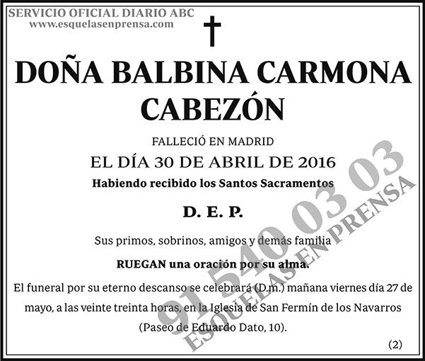 Balbina Carmona Cabezón